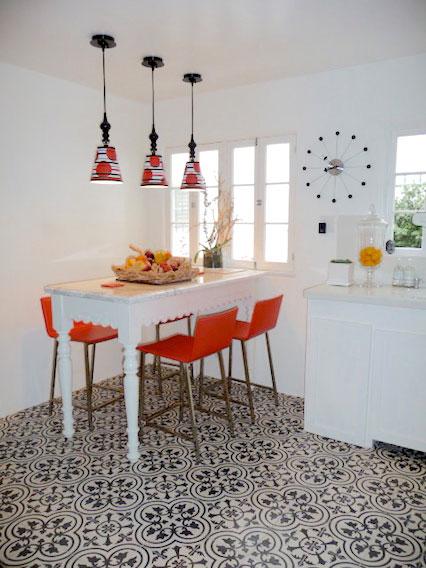 Comedor conipisos for Piso de concreto cera cocina